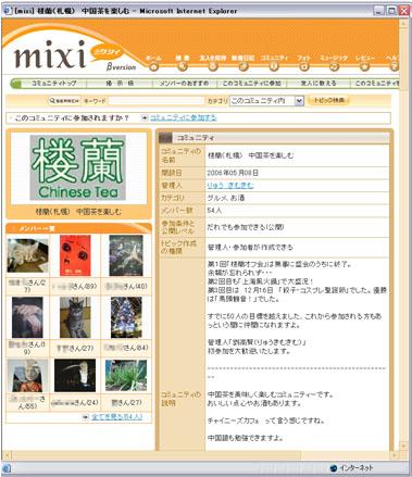 mixi:楼蘭コミュニティ